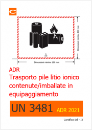 UN 3481: Batterie / pile al litio ADR