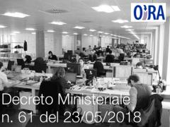Decreto Ministeriale n. 61 del 23/05/2018