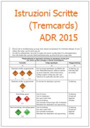 Istruzioni Scritte (Tremcards) ADR 2015