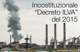 """Incostituzionale il """"Decreto ILVA"""" del 2015"""