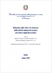 Relazione stato e sicurezza attività minerarie in mare idrocarburi
