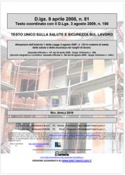 Testo Unico Sicurezza D.Lgs. 81/2008 - 04.2019
