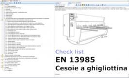 Check list EN 13985 Cesoie a ghigliottina