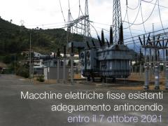 Macchine elettriche fisse esistenti: adeguamento PI entro il 7 ottobre 2021 e 2023