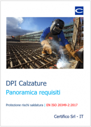 DPI Calzature Panoramica requisiti EN ISO 20349-2:2017
