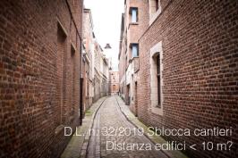 D.L. n. 32/2019 'Sblocca cantieri': possibile distanza minima tra edifici minore 10 mt