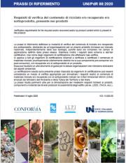 UNI/PdR 88:2020 | contenuto di riciclato e/o recuperato e/o sottoprodotto nei prodotti