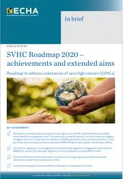 SVHC Roadmap 2020 - Risultati ed obiettivi