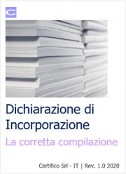 Dichiarazione di Incorporazione: la corretta compilazione