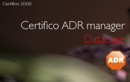 Certifico ADR manager Database