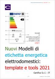 Nuovi Modelli di etichetta energetica elettrodomestici: template e tools