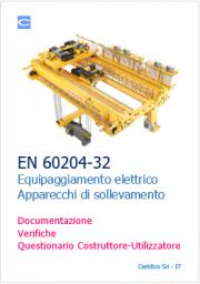 EN 60204-32 Equipaggiamento elettrico Apparecchi di sollevamento