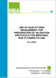 EIGA | Quality Risk Management for Medicinal Gas Cylinder Filling