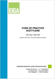 Code of Practice Acetylene