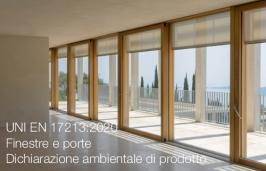 UNI EN 17213:2020 | Finestre e porte - Dichiarazione ambientale di prodotto