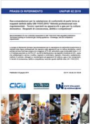 UNI/PdR 62 | Tecnici apparecchi a gas per la cottura domestica