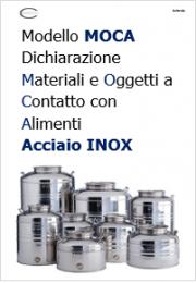Modello Dichiarazione MOCA acciaio inox