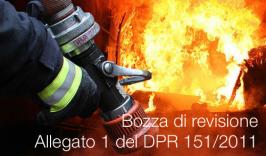 Bozza di revisione Allegato 1 del DPR 151/2011