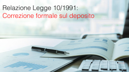 Relazione Legge 10/1991: correzione formale sul deposito