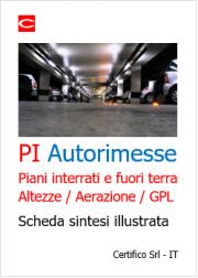 PI Autorimesse: Piani interrati e fuori terra / Altezze / Aerazione / GPL