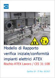 Modello Rapporto verifica iniziale/conformità impianti elettrici ATEX | CEI 31-108
