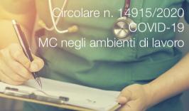 SARS-CoV-2 | Indicazioni medico competente ambienti di lavoro
