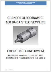 Check list verifica di cilindri a stelo semplice