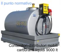 Contenitori-distributori mobili carburanti liquidi 9000 lt
