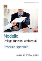Modello Delega di funzioni ambientali