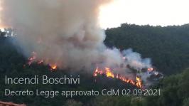 Decreto Legge Incendi boschivi: Approvato CdM 02.09.2021