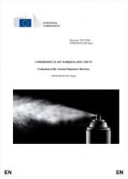 Evaluation of the Aerosol Dispensers Directive | 2018