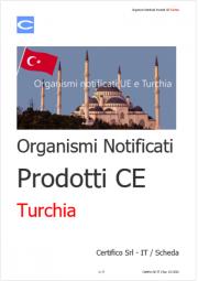 Organismi notificati Prodotti CE Turchia