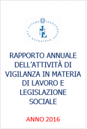 Rapporto annuale Ispettorato Nazionale del Lavoro 2016