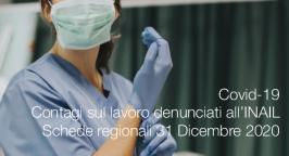 Covid-19 | Contagi sul lavoro denunciati all'INAIL: Schede regionali 31 Dicembre 2020