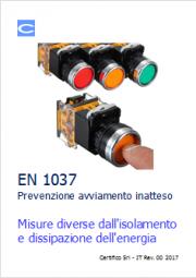 EN 1037 Prevenzione avviamento inatteso