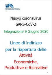 COVID-19 | Linee guida riapertura attività Economiche e Produttive Rev. 09 Giugno 2020