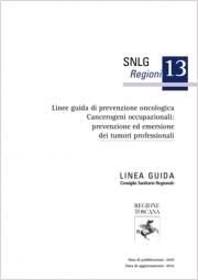 Linee guida prevenzione oncologica cancerogeni occupazionali | RT 2016