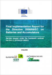 Report for the Directive 2006/66/EC on Batteries and Accumulators