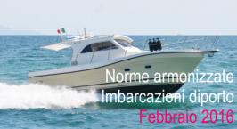 Norme armonizzate Direttiva Imbarcazioni diporto Febbraio 2016