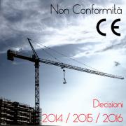 Decisioni di ritiro dal mercato Non conformità CE 2014/1015/2016