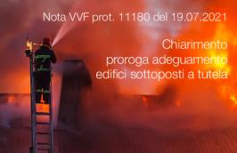 Nota VVF prot. 11180 del 19.07.2021