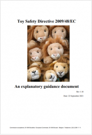 Guidance Directive 2009/48/EC on the Safety Toys - Rev. 1.10 2021