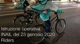Istruzione operativa INAIL del 23 gennaio 2020 | Riders