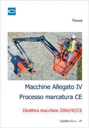 Macchine Allegato IV Processo marcatura CE