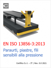 EN ISO 13856-3:2013 | Paraurti, piastre, fili sensibili alla pressione