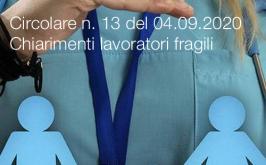 Circolare n. 13 del 04.09.2020 | Chiarimenti lavoratori fragili