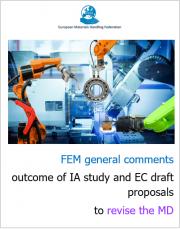 Position Paper FEM 2020 | Revisione direttiva macchine
