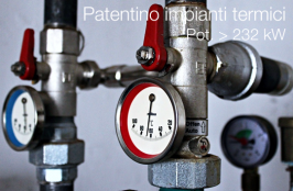 Patentino conduzione impianti termici