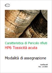 Rifiuti HP6 Tossicità acuta: modalità di assegnazione