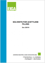 Solvents for acetylene filling